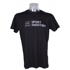 Koszulka Glock T-Shirt Sport Shooting Men Krótki Rękaw Czarna