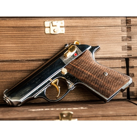 Pistolet Walther PPK/E kal. .32 ACP (Pozłacany)