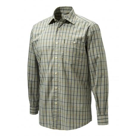 Koszula Beretta LU530 Plain Collar Beige and Blue Check (14G)