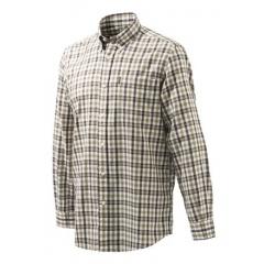 //KOSZULA BERETTA LU21 /19U/ Beretta Classic Shirt - White & Brown Check