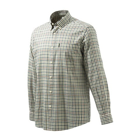 //KOSZULA BERETTA LU21 /19P Beretta Classic Shirt - Beige Check