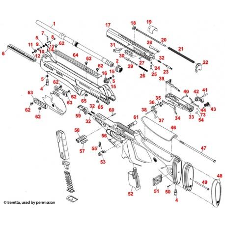Iglica - część Beretta C5A516