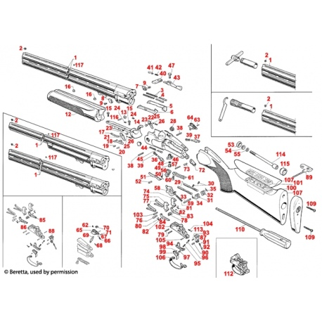 Część Beretta DT10 C61529