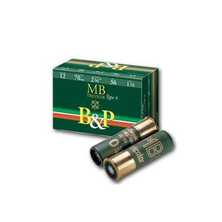 Amunicja myśliwska śrutowa B&P 4 MB Tricolor 12/70